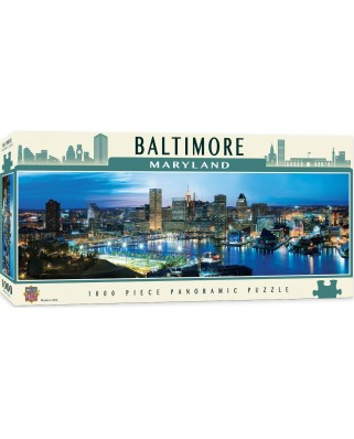 Puzzle 1000 piese panoramic - Baltimore, Maryland (Master-Pieces-71586)