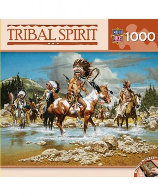 Puzzle 1000 piese - Tribal Spirit - The Chiefs (Master-Pieces-71612)