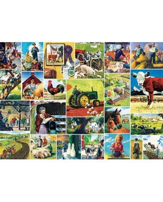 Puzzle 1000 piese - Farmland Collage (Master-Pieces-71808)
