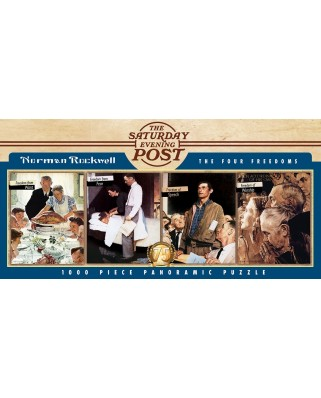 Puzzle 1000 piese panoramic - The Four Freedoms (Master-Pieces-71817)