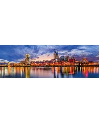 Puzzle 1000 piese panoramic - City Panoramics - Nashville (Master-Pieces-71851)