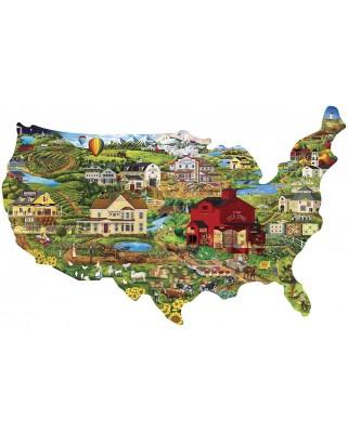 Puzzle 1000 piese contur - United States (Master-Pieces-71959)
