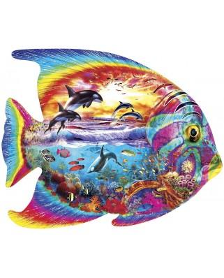 Puzzle 1000 piese contur - Tropical Fish (Master-Pieces-71960)