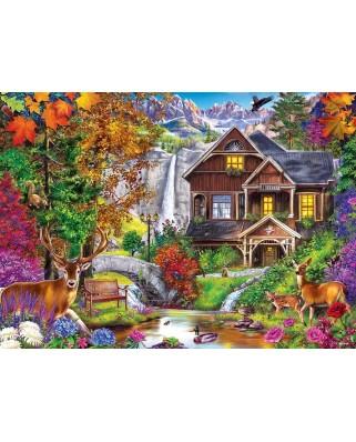 Puzzle 1000 piese - Hidden Falls Retreat (Master-Pieces-71985)