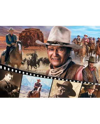 Puzzle 1000 piese - John Wayne - The Legend of the Silver Screen (Master-Pieces-72025)