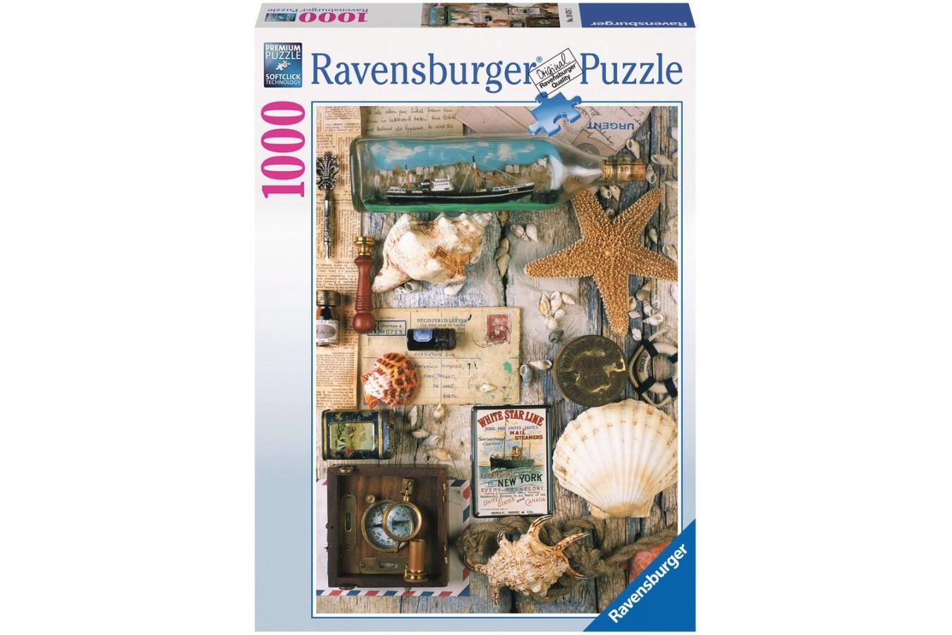 Puzzle Ravensburger - Suveniruri Marine, 1.000 piese (19479)
