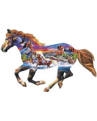 Puzzle 1000 piese contur - Running Horse (Master-Pieces-72039)