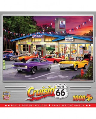 Puzzle 1000 piese - Route 66 Pittstop (Master-Pieces-72040)