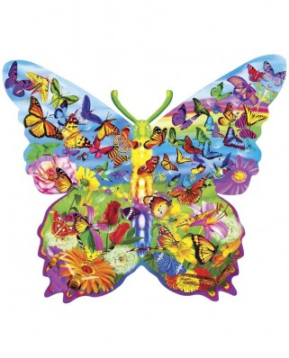 Puzzle 1000 piese contur - Butterfly (Master-Pieces-72051)
