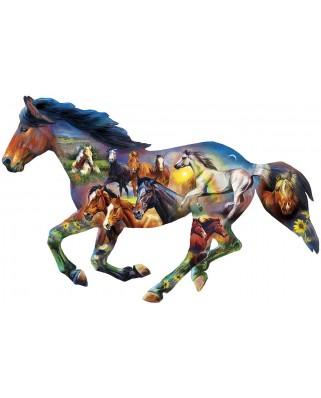 Puzzle 1000 piese contur - Wild Horse (Master-Pieces-72052)