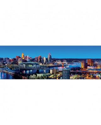 Puzzle 1000 piese panoramic - Cityscapes - Cincinnati (Master-Pieces-72076)