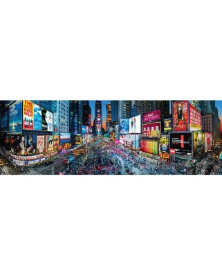 Puzzle 1000 piese panoramic - Cityscapes - Times Square (Master-Pieces-72077)