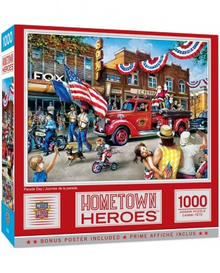 Puzzle 1000 piese - Hometown Heroes - Parade Day (Master-Pieces-72129)