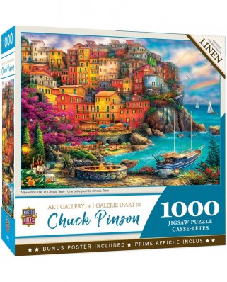 Puzzle 1000 piese - A Beautiful Day at Cinque Terre (Master-Pieces-72162)