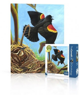 Puzzle 100 piese mini - Red-Winged Blackbird (New-York-Puzzle-CB1859)