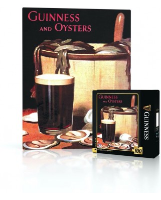 Puzzle 100 piese mini - Guinness and Oysters (New-York-Puzzle-GU2048)