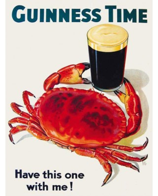 Puzzle 100 piese mini - Guinness and Crab (New-York-Puzzle-GU2049)