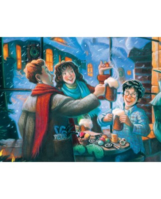 Puzzle 100 piese mini - Harry Potter - Three Broomsticks (New-York-Puzzle-HP1370)