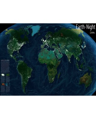 Puzzle 1000 piese - National Geographic - Earth at Night (New-York-Puzzle-NG1602)