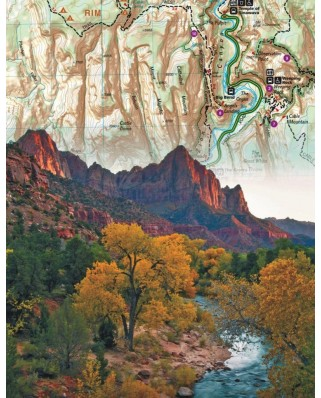Puzzle 100 piese mini - Zion National Park (New-York-Puzzle-NG1850)