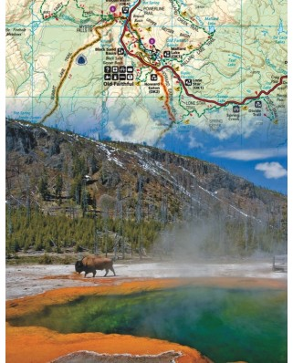 Puzzle 100 piese mini - Yellowstone (New-York-Puzzle-NG1851)