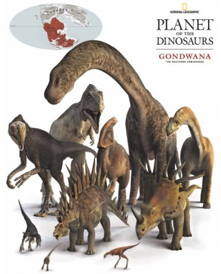 Puzzle 100 piese mini - Gondwana Dinosaurs (New-York-Puzzle-NG1863)