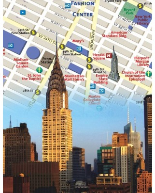 Puzzle 100 piese mini - New York City Map (New-York-Puzzle-NG1865)