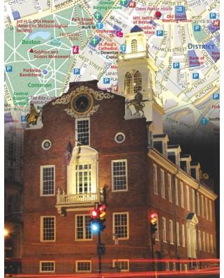 Puzzle 100 piese mini - Boston City Map Mini (New-York-Puzzle-NG1866)