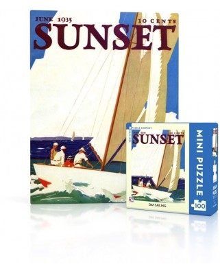 Puzzle 100 piese mini - Sunset - Day Sailing (New-York-Puzzle-SU2011)