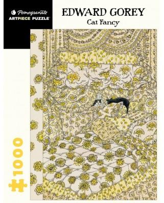 Puzzle 1000 piese - Edward Gorey: Cat Fancy (Pomegranate-AA1068)