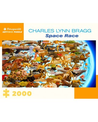 Puzzle 2000 piese - Charles Lynn Bragg: Space Race (Pomegranate-AA1079)