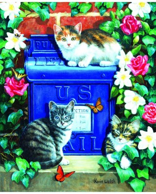 Puzzle 1000 piese - Mail Box Kittens (Sunsout-13801)