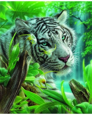 Puzzle 1000 piese - White Tiger of Eden (Sunsout-21802)