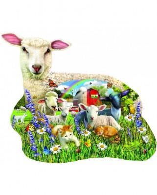 Puzzle 1000 piese XXL contur - Lamb Shop (Sunsout-97041)