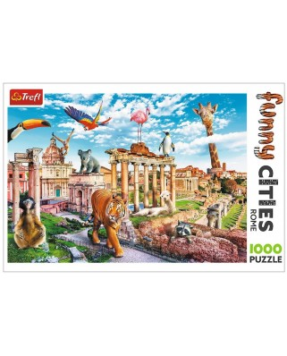 Puzzle 1000 piese - Funny Cities - Rome (Trefl-10600)