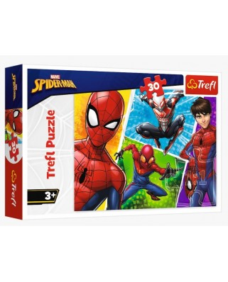 Puzzle 30 piese - Spider-Man and Miguel (Trefl-18242)