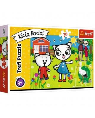 Puzzle 30 piese - The Adventures of Kitty Feline (Trefl-18264)