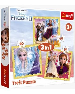 Puzzle 20/34/50 piese - Frozen 2 (Trefl-34847)