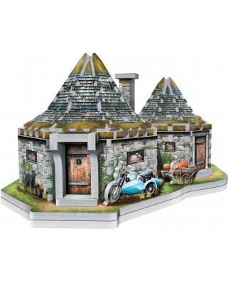 Puzzle 3D cu 270 piese - Harry Potter (TM): Hagrid's Hut (Wrebbit-0512)