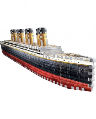 Puzzle 3D cu 440 piese - Titanic (Wrebbit-1014)