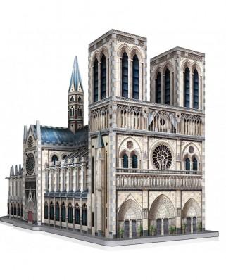 Puzzle 3D cu 830 piese - Notre-Dame de Paris (Wrebbit-2020)