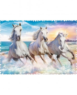 Puzzle Trefl - Crazy Shapes - Galloping among the Waves, 600 piese dificile (11111)
