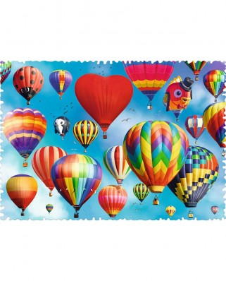 Puzzle Trefl - Crazy Shapes - Colorful Balloons, 600 piese dificile (11112)