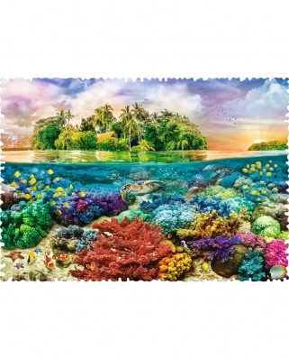 Puzzle Trefl - Crazy Shapes - Tropical Island, 600 piese dificile (11113)