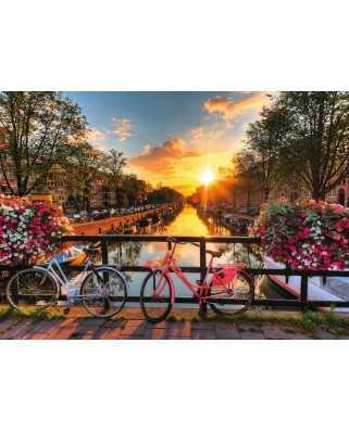 Puzzle Ravensburger - Biciclete In Amsterdam, 1.000 piese (19606)