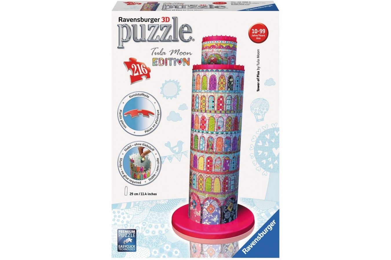 Puzzle 3D Ravensburger - Turnul Din Pisa Colorat, 216 piese (12568)