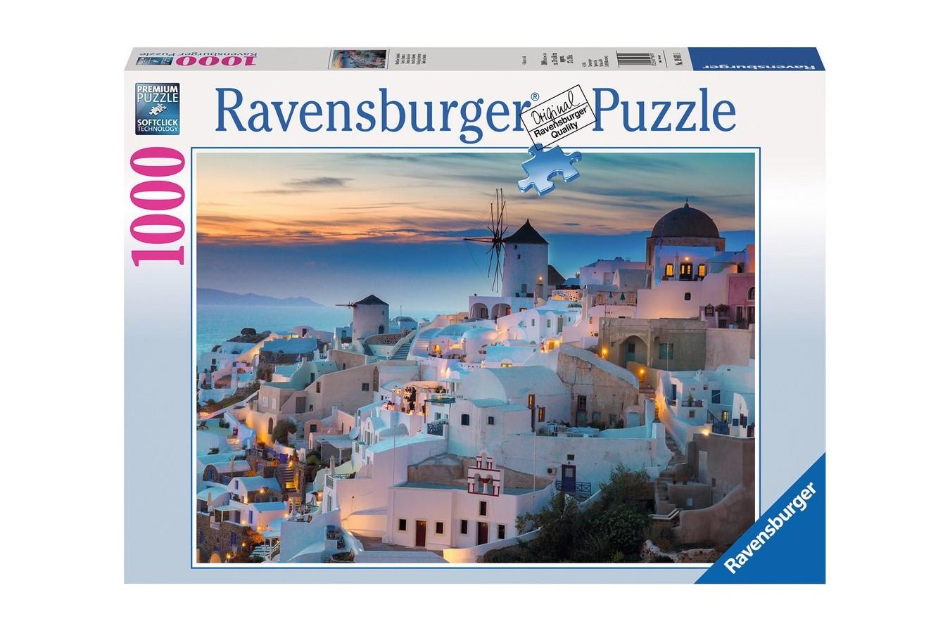 Puzzle Ravensburger - Noaptea In Santorini, 1.000 piese (19611)