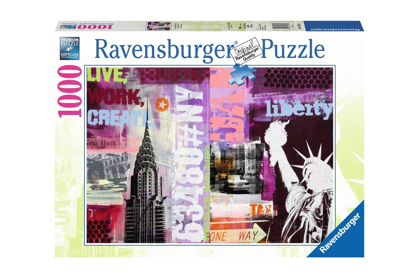 Puzzle Ravensburger - New York, 1000 piese (19613)