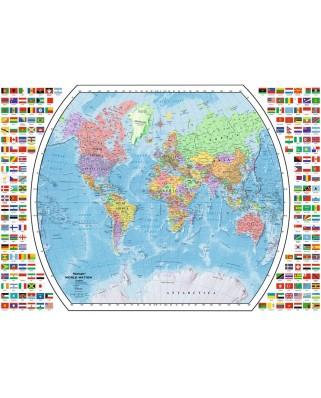 Puzzle Ravensburger - Harta Politica A Lumii, 1.000 piese (19633)
