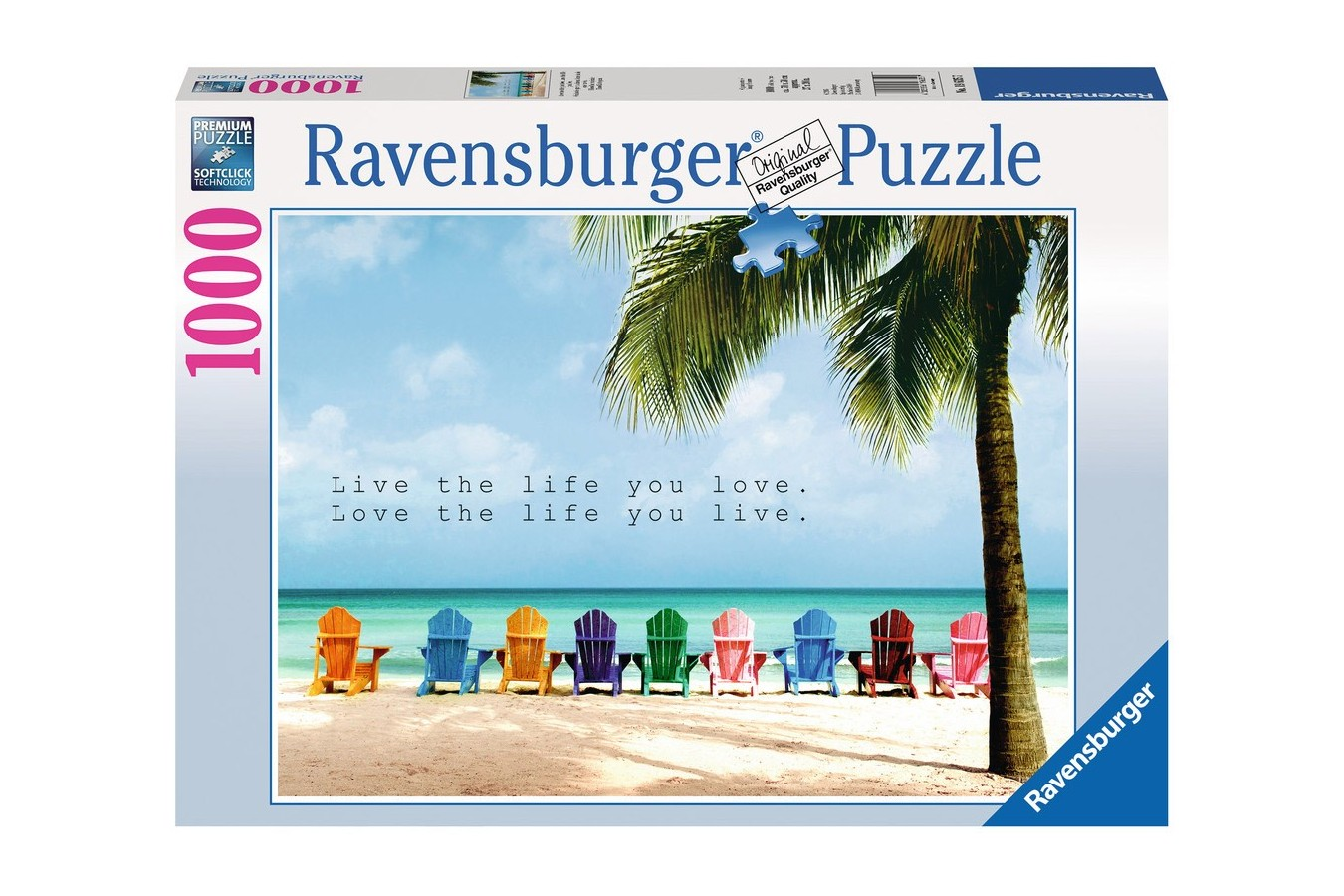 Puzzle Ravensburger - Plaja, 1.000 piese (19635)